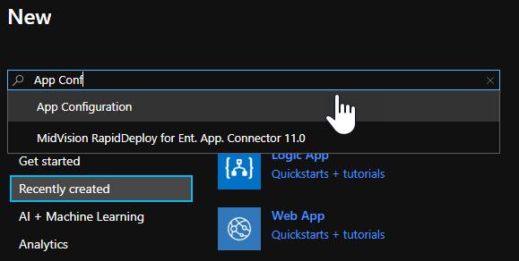 Azure App Configuration Resource