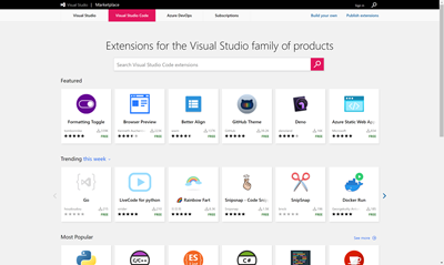 Visual Studio Code Marketplace