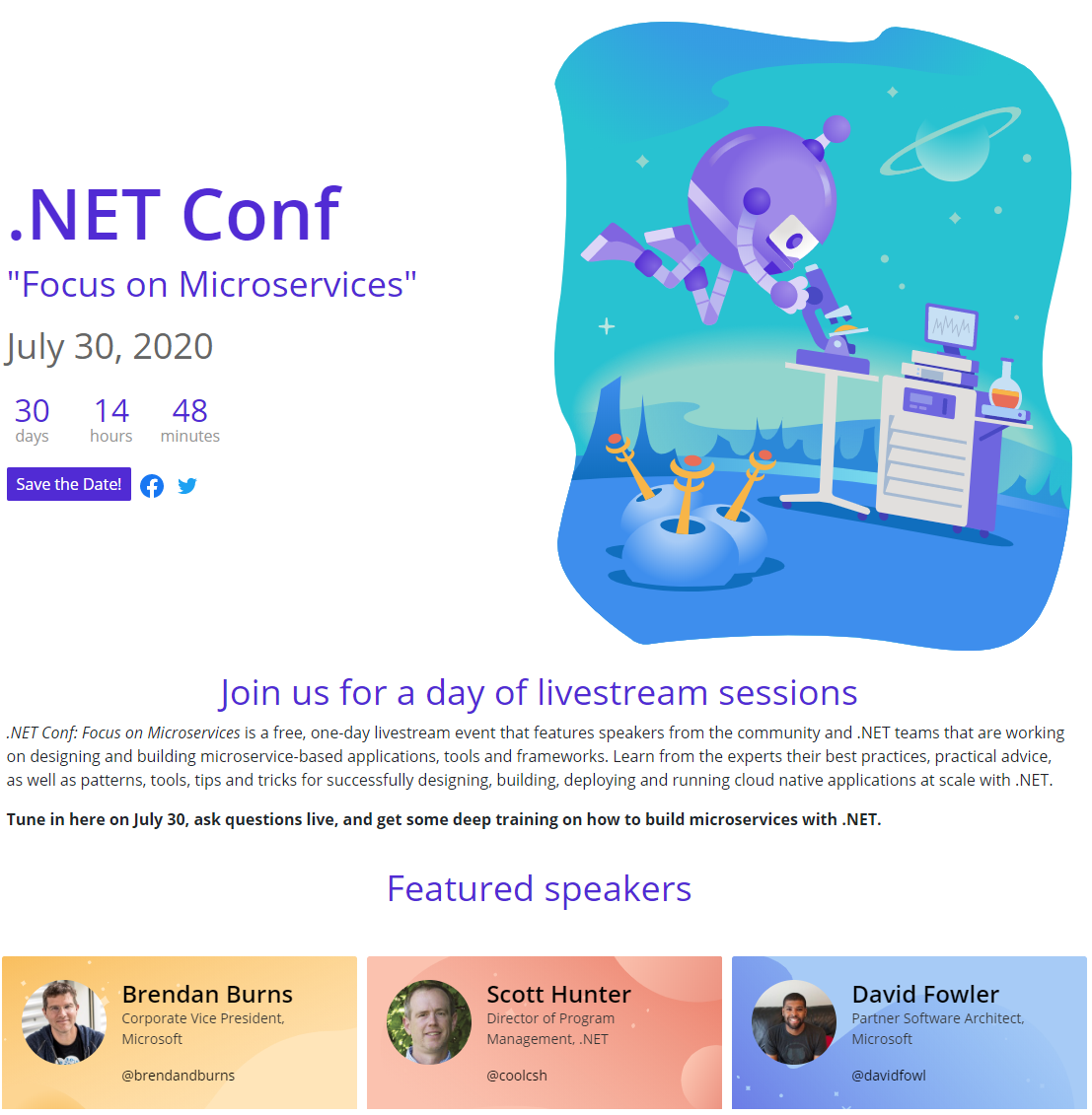 .NET Conf: Focus on Microservices