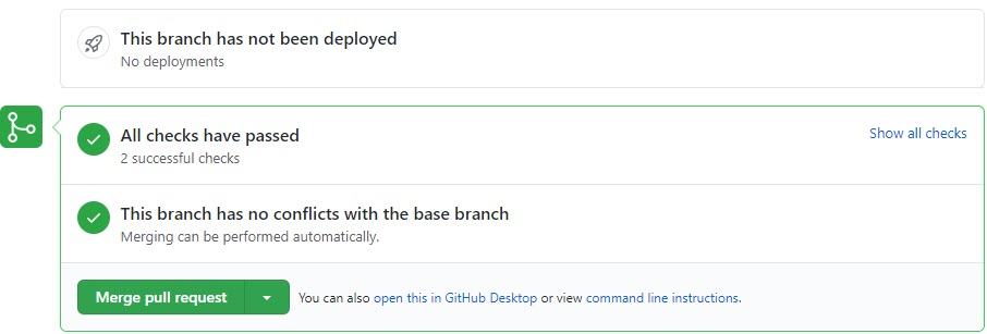 Travis-CI successfully checked the Pull Request
