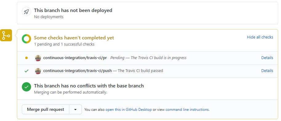Travis-CI checking the Pull Request