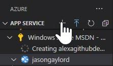 Visual Studio Code Azure Tools Create App Service