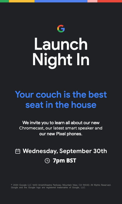 Google Launch Night
