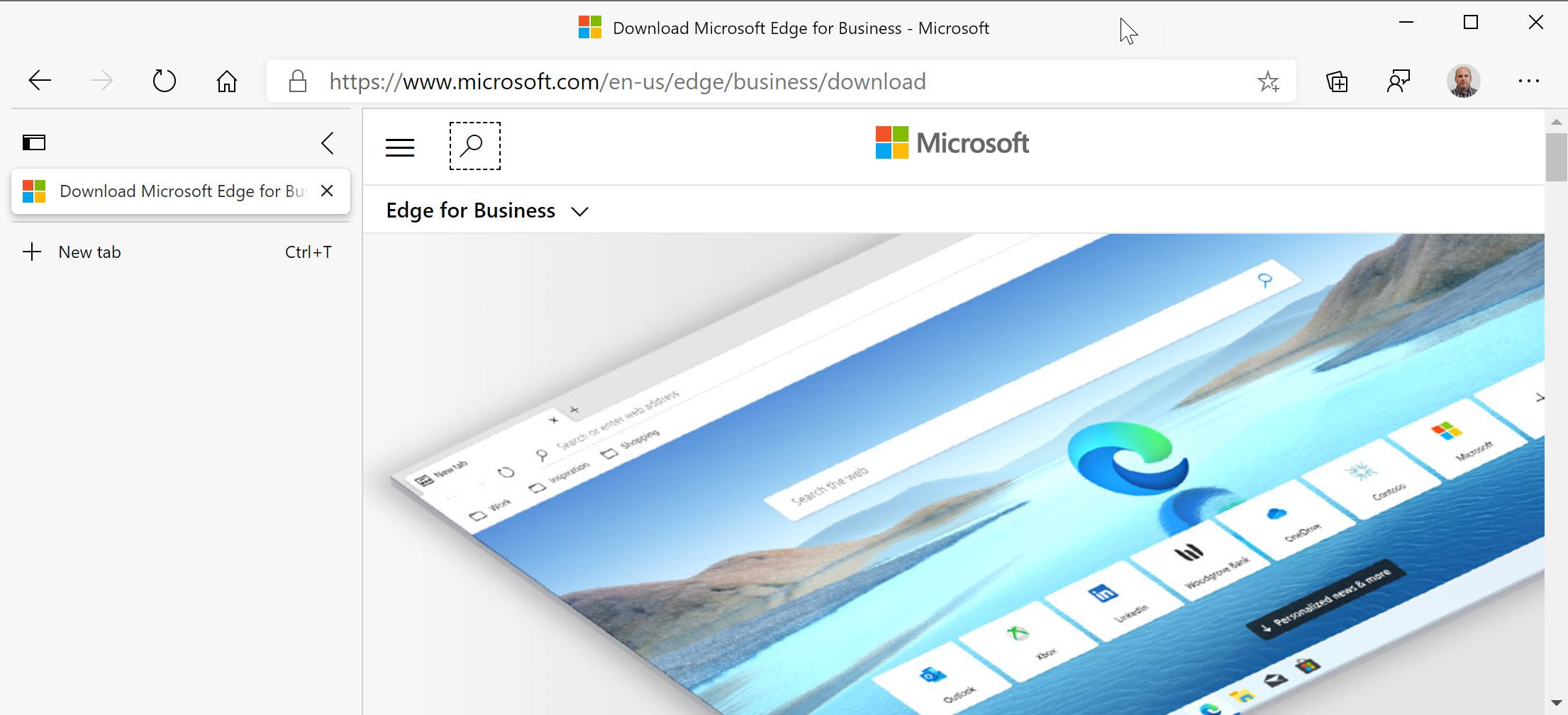 Vertical Tabs in Microsoft Edge