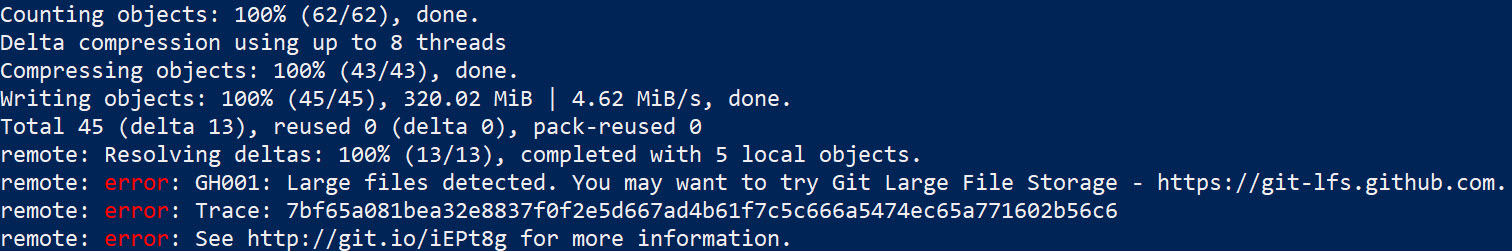 Git LFS Error